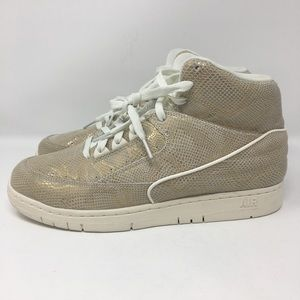 Nike Air Python Gold Sneakers 9.5 New